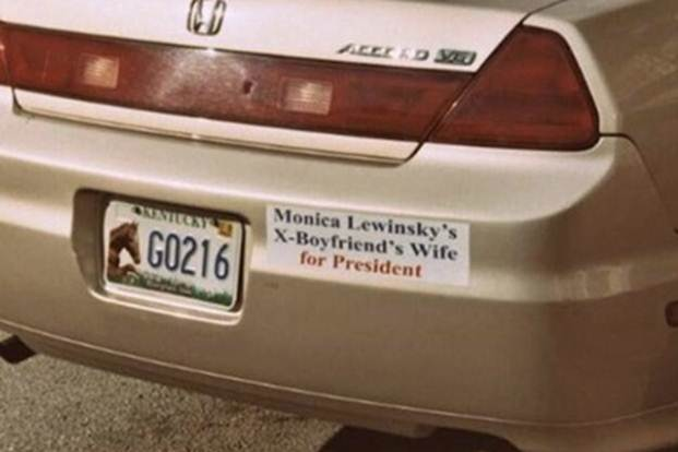 Name:  Saw my first Hillary for president bumper sticker.jpg